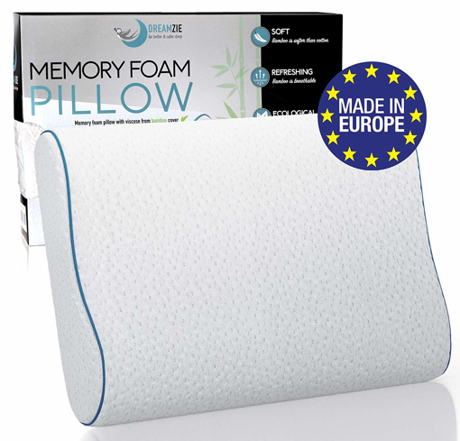 Picture of Dreamzie Ergonomic Memory Foam Pillow and Orthopaedic Pillow 60 x 40 cm OEKO-TEX
