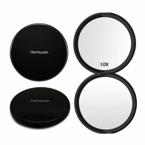 Picture of HAMSWAN Makeup Compact Mirrors Pocket Handheld Mirror 1X/10X Magnifying Portable