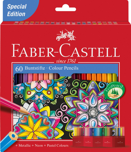 Picture of Faber-Castell Colour Pencils Pack of 60