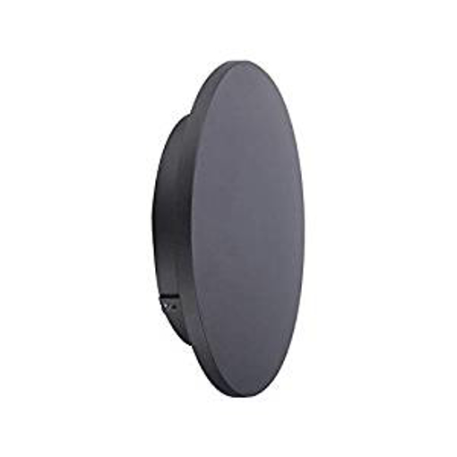 Picture of Biard Piombino Ultra-Thin Small Round IP54 6W LED Anthracite Outdoor Wall Washer Light Sconce - Natural White (5000K)