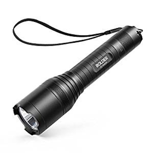 Picture of Anker LC90 LED Flashlight - IP65 Water-Resistant - Zoomable - Rechargeable - Pocket-Sized Torch (for Camping - Hiking and Emergency Use) with 900 Lumens CREE LED - 5 Light Modes - and 18650 Battery