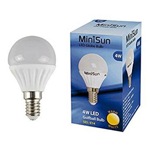 Picture of MiniSun 4w LED SES E14 Golfball Energy Saving Long Life Ligh