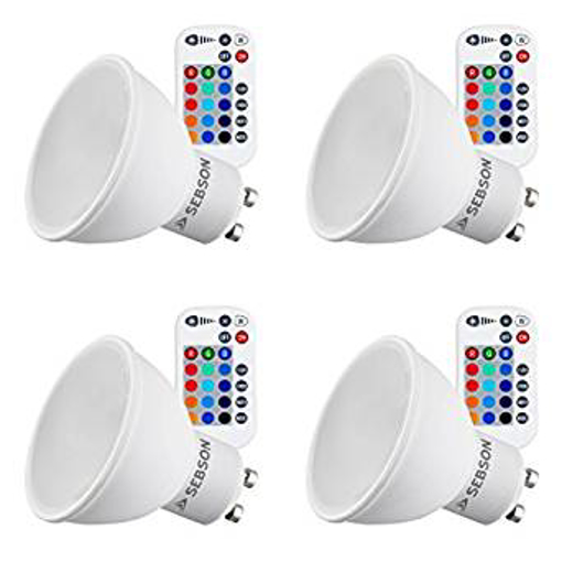 Picture of Colour Changing Bulb, Remote Control, 15 RGB + Warm White