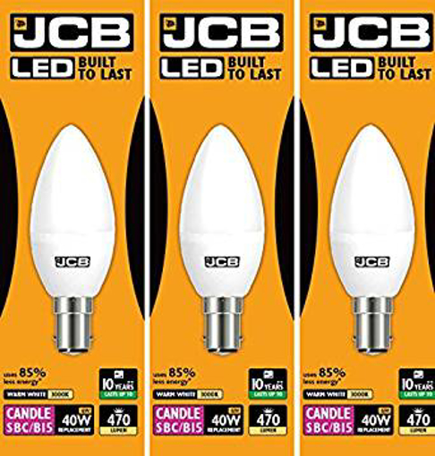 Picture of JCB 6w LED B15 Candle Bulbs Small Bayonet - 40w Incandescent