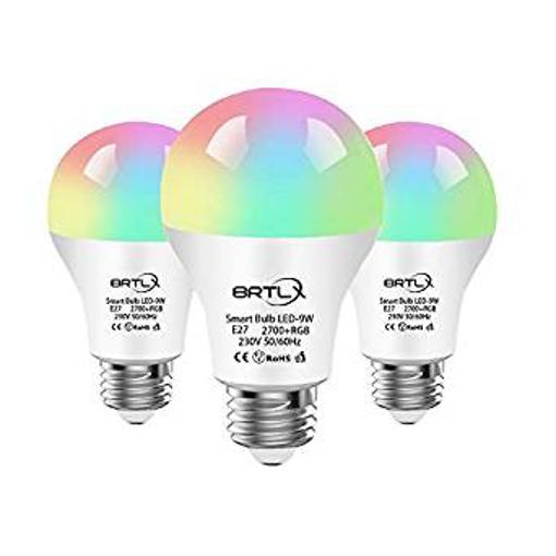 Picture of BRTLX WiFi Smart Bulbs -A60 RGB Dimmable E27 9W Led Smart Li