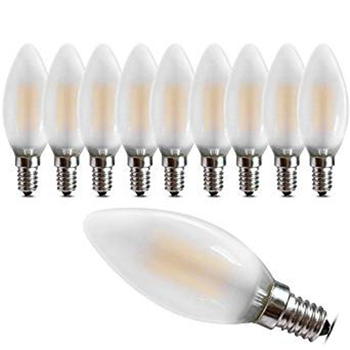 Picture of Dimmable E14 LED Candle Filament Bulbs 4W -Warm White 2700K