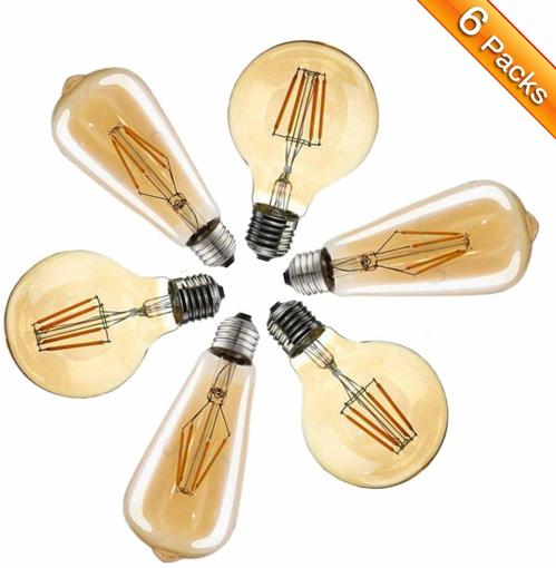 Picture of Edison Light Bulbs,Elfeland E27 LED Vintage Light Bulbs 4W S