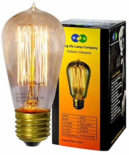 Picture of Click to open expanded viewVintage Light Bulb Retro Edison