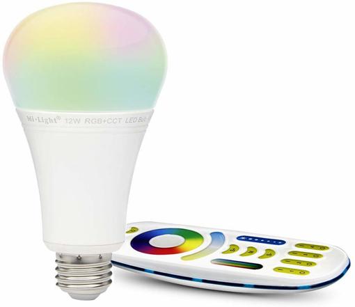 Picture of LIGHTEU®, 1x 12W E27 New Design Milight WiFi E27 12W 2.4G RF