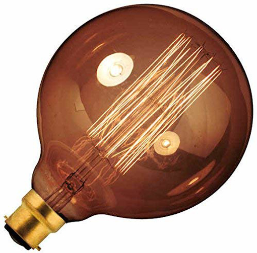 Picture of Dimmable Rustic Goldline Filament 60w Lamp B22, BC, 240v 300