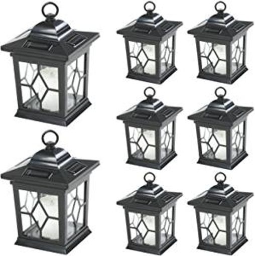 Picture of Woodside 6 x Solar Powered Garden Candle Lanterns/Lamp