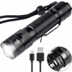 Picture of LED Torch - 800 Lumen High Power USB Rechargeable Flashlight Mini Pocket Torch IP67 Waterproof LED CREE XPG2 S3 5 Modes Waterproof for Camping/Hiking/Fishing/Indoor/Outdoor Activities