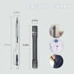 Picture of LED Torch - LUMINTOP IYP365 Penlight Pocket Torch Aluminum Alloy with High Color Rendering Nichia LED 125 Lumens IPX-8 Waterproof 3 Modes for Medical Doctor Nurse Diagnostic