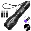 Picture of LETION UV Light - LED Torch 2 in 1 UV Torch Black Light Flashlight with 500LM Highlight & 4 Mode & Waterproof IPX 4 for Pet Clothing Food Fungus Detection/Night Fishing/Travel