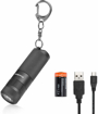 Picture of EverBrite Rechargeable Keyring Flashlight - LED Mini Torch - 25g/65mm - 30-160 Lumens - 4-Mode - Waterproof IPX4 - High Quality Lightweight Pocket Keychain Torch for EDC Outdoor - Battery Included