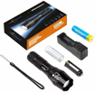 Picture of Bright Rechargeable Torch -Torches Led Super Bright with USB Charger and 18650 Battery -Best Flashlight Torch for Camping - Hiking - Auto Emergencies - and Home Repair etc