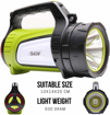 Picture of OviLeaf Rechargeable Camping Lantern with 600 Lumen CREE LED Waterproof Searchlight - 10 Modes to Switch - 4000mAh Power Bank - Lightweight and Handheld Design - Perfect for Emergency and Outdoor