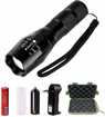 Picture of LED Tactical Flashlight - ONSON 900 Lumen XML T6 Portable Outdoor Water Resistant Torch with Adjustable Focus and 5 Light Modes -Rechargeable 18650 Lithium Ion Battery and Charger