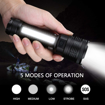 Picture of Supfire Strong Magnetic Led Torch -USB Rechargeable -Super Bright Flashlight -5 Modes Work Torches with COB Side Light -Waterproof -Clip Multi-Function Tactical Flashlight Idea for Outdoor Activity