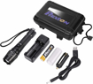 Picture of Super Bright Rechargeable LED Torch 1000 Lumen XM L2 Tactical Big Flashlight With High Power 5000mAh 18650 Lithium ion Battery Charger USB Cable Gift Box Zoomable 5 Modes Security Camping Hiking Light