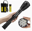 Picture of Garberiel Super Bright LED Flashlight 8000 Lumens Led Torch 7 XML-T6 Portable Led Flashlight -5 Modes with 18650 Battery and USB Charger