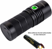 Picture of Sofirn SP36 LED Torch 6000 Lumen Rechargeable Flashlight Super Bright with USB C Charging Port - 3X 18650 Battery NarsilM V1.2 Driver for Hiking Energy Using