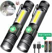 Picture of iToncs Magnetic LED Torch Super Bright COB Flashlight Torches USB Rechargeable for Camping [2 Pack]