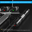 Picture of 1200 Lumens LED Torch - WUBEN Waterproof Powerful Tactical Flashlight USB Recheargable Ultra Bright 5 Lighting Modes Torch Light for Camping Cycling Outdoor (18650 Battery Included)