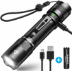 Picture of BYBLIGHT Rechargeable LED Torch - Super Bright 800 Lumens Small CREE LED Flashlight - Built-in 18650 Battery - 5 Modes - IP67 Waterproof Powerful Torch for Camping - Dog Walking - Outdoor Activitie