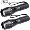 Picture of LED Torch - BINWO Super Bright 2000 Lumen Zoomable CREE XML T6 LED Flashlight - 5 Modes - Waterproof Handheld Powerful Tactical Torch Light for Camping & Outdoor Sports (2 Pack) - Warranty for 2 Years