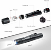 """Picture of RISEMART Mini LED Torch Light Flashlight Super Small Pocket Clip Waterproof 3.5"""" Torch Powered by Single AAA Battery (not Included) Ultra Bright Carry Outdoor Gear for Hiking -Camping"""