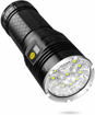 Picture of Semlos 12 LED Super Bright LED Flashlight - Rechargeable Type-C 4 Modes Torch with Power Display Function and 4pcs Built-in Batteries for Camping Hiking Night Fishing