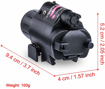 Picture of Picozon 2-in-1 LED Flashlight Torch & Red Dot Sight Scope - with intergrated Picatinny/Weaver Adapter