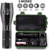 Picture of Trublaze Tactical Cree LED Torch Military Pocket Zoomable Flashlight Set 18650 Rechargeable Battery