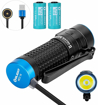 Picture of Olight S1R Baton II EDC Torch Light Max 1000 Lumens Compact Single Rechargeable IMR16340 Powered LED Flashlight Torch for Camping -Hiking Dog Walking (S1R II + Battery)