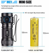 Picture of TrustFire MC1 Rechargeable LED Torch 1000 Lumens Flashlight IPX8 with IMR 16340 650mAh Battery