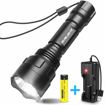 Picture of BYBLIGHT LED Torch Super Bright - Rechargeable Tactical Flashlight with USB Charger - 900 Lumens CREE LED Waterproof Torch with 5 Light Modes for Indoors and Outdoors Use - 18650 Battery Included