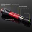 Picture of Readaeer CREE T6 [2 Stück] Outdoor Camping LED Taschenlampe/Handlampe Zoombar IPX6 Wasserdicht (Rot)