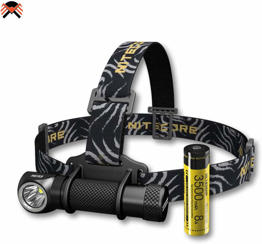 Picture of Nitecore HC33 Head Torch - IP68 Waterproof Super Bright 1800 Lumen - Led Torch Magnetic L Shape [ 3500mAh Rechargeable Battery Included ]