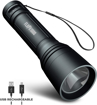 Picture of Blazin Micro-USB Rechargeable Flashlight   1000 Lumen Tactical Flashlight with 4 Modes   12 Hour Runtime   325 Yard Visibility   Powerful Waterproof EDC Torch   Lifetime Warranty
