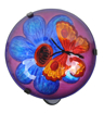 Picture of Peaktop POL-0007A Outdoor Butterfly Fusion Glass Lantern - Multi-Colour - 19 x 8 x 45 cm