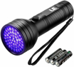 Picture of LE UV Torch - 51 LED 395nm Ultraviolet Flashlight - Blacklight Detector for Pet Urine - Stain - Bed Bug on Carpet and More - 3 AA Batteries Included