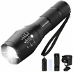Picture of Binwo LED Torch - Super Bright 2000 Lumen Rechargeable Torch - Tactical Flashlight Torch with 5 Modes - Powerful Torch Ideal for Hiking - Camping - Outdoor Activities Or Gift - Battery & Charger Included