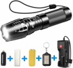 Picture of BYBLIGHT Rechargeable LED Torch - Super Bright 800 Lumen Adjustable Focus Tactical Flashlight with 26650 Powerful Battery - IP65 Waterproof Torch for Camping - Dog Walking - Outdoor