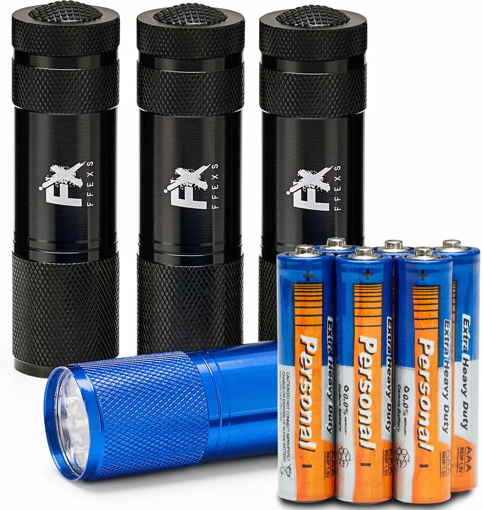 Picture of LED Torch 4 Pack Batteries Included Super Bright High Quality Small Lightweight
