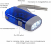Picture of DIGIFLEX Hand Press Torch - 3 Led Dynamo Flashlight for Camping - Hiking - Autumn and Survival - No Batteries Required - Eco & Rechargeable
