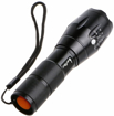 Picture of 1200 Lumen Cree-XML T6 Led Portable Zoomable Flashlight Torches - 5 Mode Adjustable Focus - Water Resistant - Powered by 3 x AAA or 18650 Batteries (Battery Holders Included)