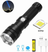 Picture of BESTSUN LED Torch Rechargeable - High Power 5000 Lumen XHP50 LED Super Bright Tactical Flashlight - Zoomable - Waterproof - 3 Light Modes for Camping Hiking