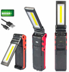 Picture of COB Led Work Light -USB Rechargeable Work Light with Magnetic Base&Hanging Hook -COB Super Bright Adjustable LED Work Light Inspection Lamp Hand Torch -for Outdoor Work Lamp Car Repair Emergency
