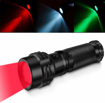 Picture of Windfire Red Green White Outdoor Torch -Handheld Tactical Flashlight Professional IPX7 Tri-Color Road Signal Light Torches Waterproof for Hunting Fishing Walking Reading Detector (3 Colors Light)